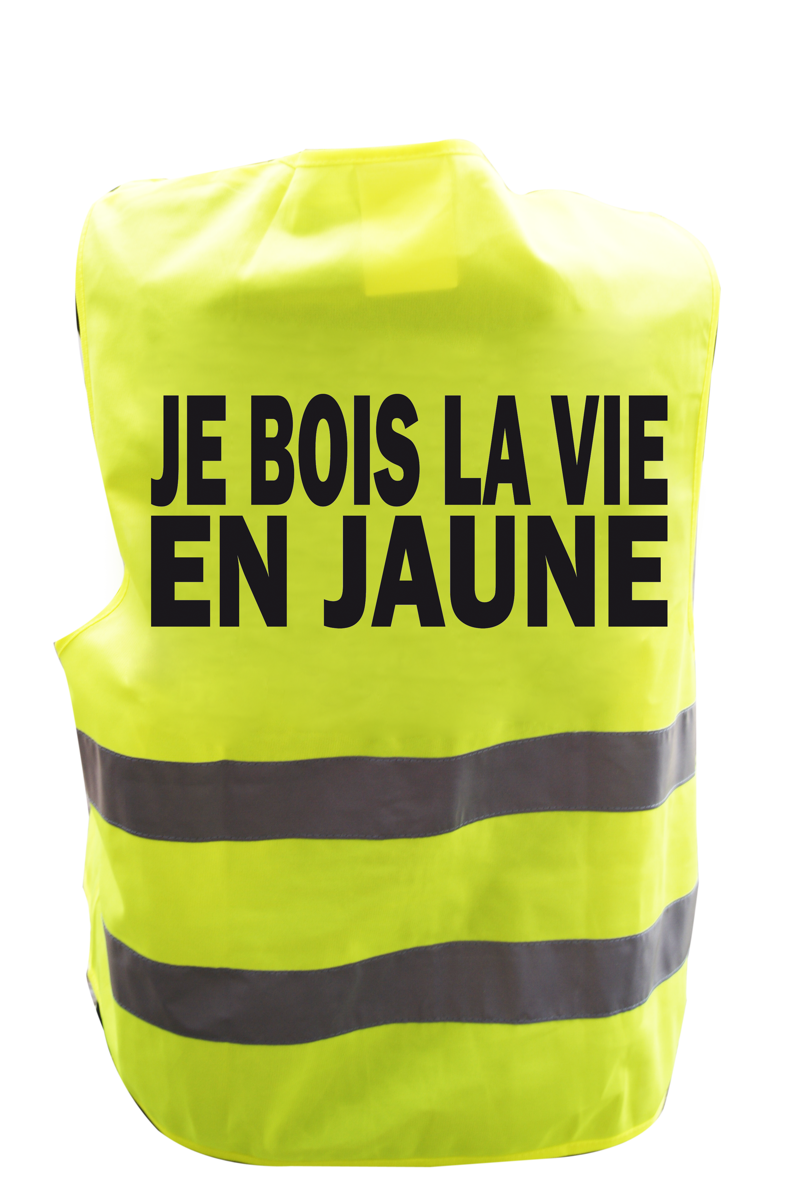 Planche À Découper Humoristique gilet de signalisation humoristique je bois la vie en jaune
