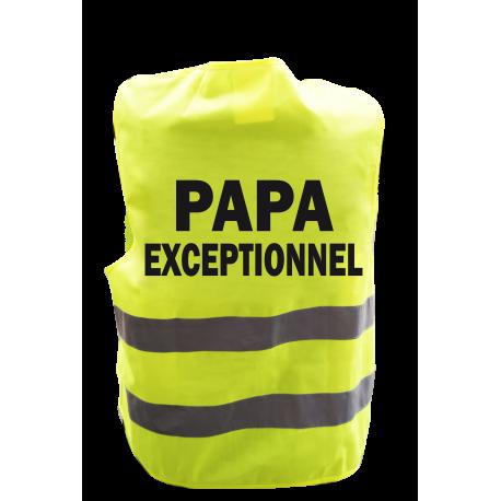 Gilet de signalisation humoristique PAPA EXCEPTIONNEL