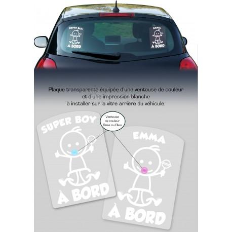 Plaque de voiture transparente Petit Ange Garçon