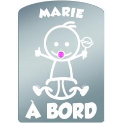 Plaque de voiture transparente MARIE