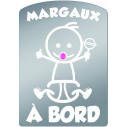 Plaque de voiture transparente MARGAUX