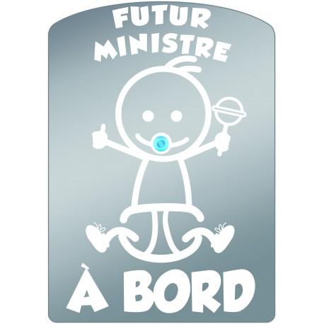 Plaque de voiture transparente FUTUR MINISTRE