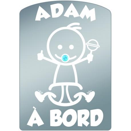 Plaque de voiture transparente ADAM