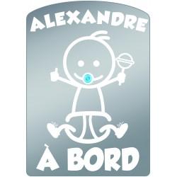 Plaque de voiture transparente ALEXANDRE