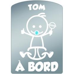 Plaque de voiture transparente TOM