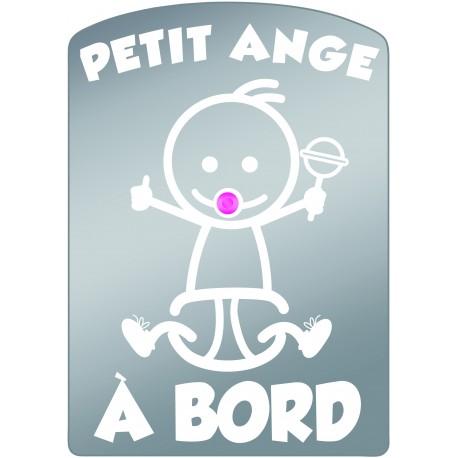 Plaque de voiture transparente PETIT ANGE Fille