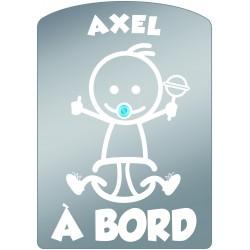 Plaque de voiture transparente AXEL