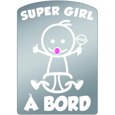 Plaque de voiture transparente SUPER GIRL