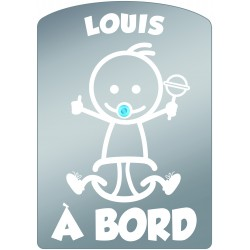 Plaque de voiture transparente LOUIS