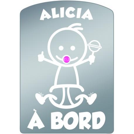 Plaque de voiture transparente ALICIA
