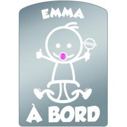 Plaque de voiture transparente EMMA