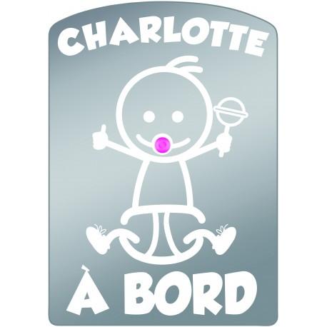 Plaque de voiture transparente CHARLOTTE