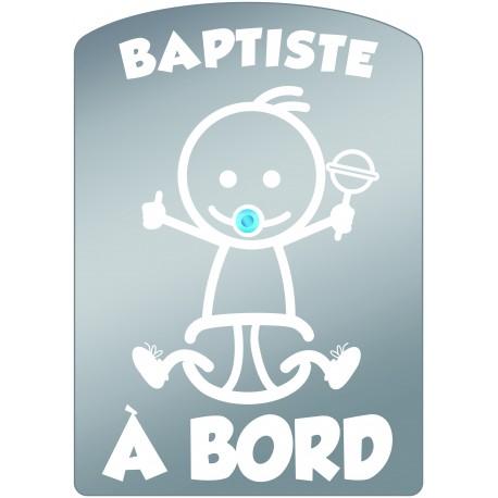 Plaque de voiture transparente BAPTISTE