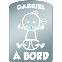Plaque de voiture transparente GABRIEL