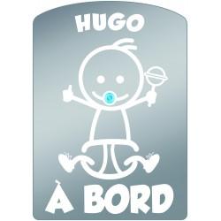 Plaque de voiture transparente HUGO
