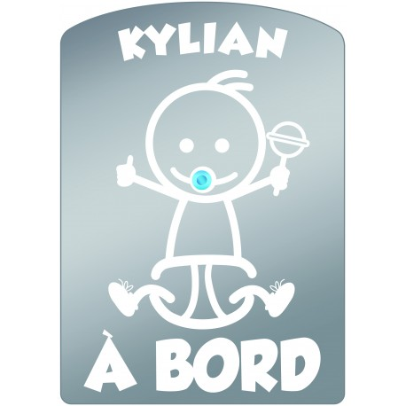 Plaque de voiture transparente KYLIAN