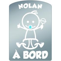 Plaque de voiture transparente NOLAN