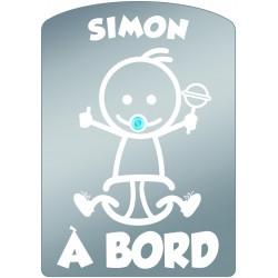 Plaque de voiture transparente SIMON