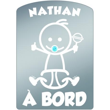 Plaque de voiture transparente NATHAN