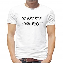 T-Shirt 0% sportif 100% foot