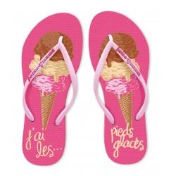 Tongs Femme J'ai les pieds glacés