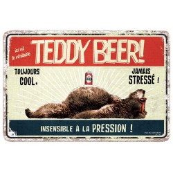 "Plaque vintage ""Teddy beer"""
