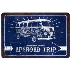 "Plaque vintage ""Apéroad trip"""