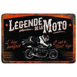 """Plaque vintage """"Légende de la moto"""""""
