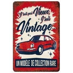 """Plaque vintage """"J'suis vintage"""""""