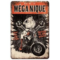 """Plaque vintage """"Roi de la méganique"""""""