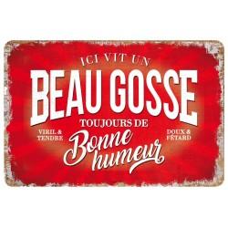 """Plaque vintage """"Beau gosse"""""""