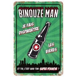 "Plaque vintage ""Binouze man"""