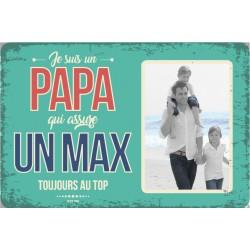 """Plaque vintage """"Papa qui assure un max"""""""