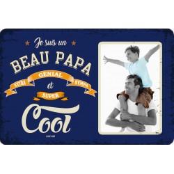 """Plaque vintage """"Beau papa cool"""""""