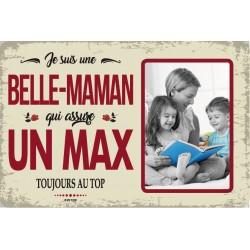 """Plaque vintage """"Belle maman qui assure un max"""""""