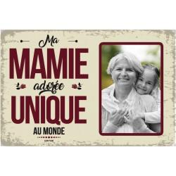 """Plaque vintage """"Ma mamie adorée"""""""