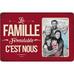 """Plaque vintage """"La famille formidable"""""""