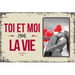 """Plaque vintage """"La vie entre amis"""""""