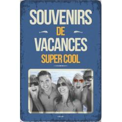 """Plaque vintage """"Souvenirs de vacances"""""""