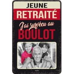 """Plaque vintage """"Jeune retraité"""""""