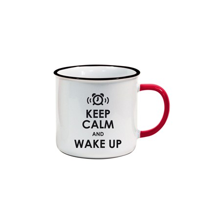 Tasse US Keep Calm and Wake up