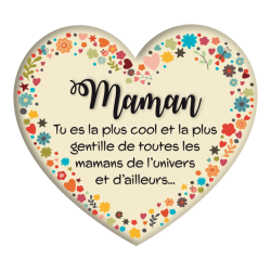 Plaque métal Maman la plus cool