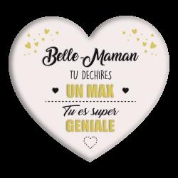Plaque métal Belle-Maman tu déchires