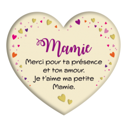 Plaque métal Mamie merci