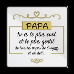Plaque métal Papa le plus cool