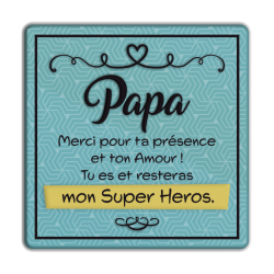 Plaque métal Papa merci