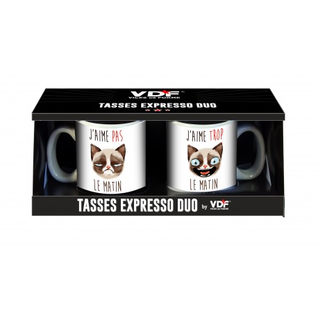 Tasses expresso duo Chats
