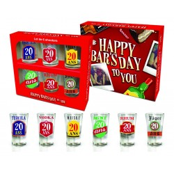 Kit de 6 Shooters 20 ANS Happy Bar's Day !