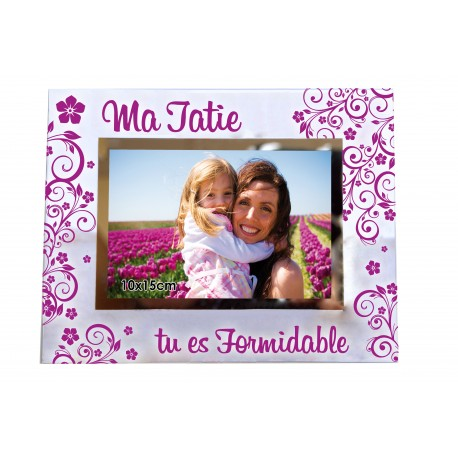 "Cadre photo ""Tatie formidable"""