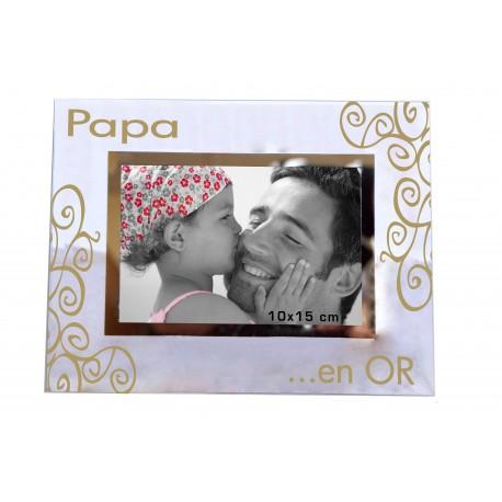 """Cadre photo """"Mon Super Papa en Or"""""""